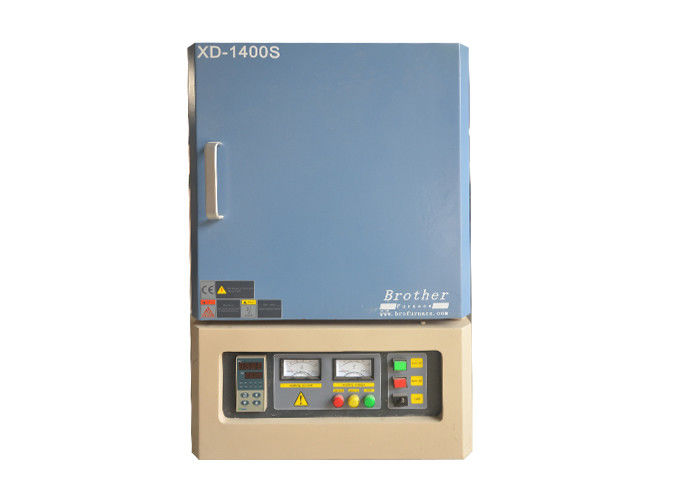 Programmable Industrial Muffle Furnace 1400 C Box Shape Blue Color Double Layer